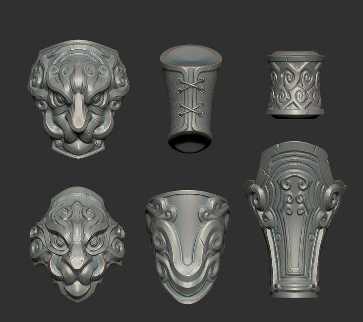 ArtStation - Monk Armor, Dante Fuget
