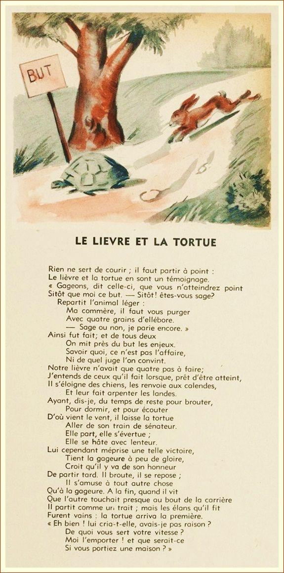 Le Livre Et La Tortue : livre, tortue, Lièvre, Tortue, Lievre, Tortue,, Fables, Fontaine,, Fontaines