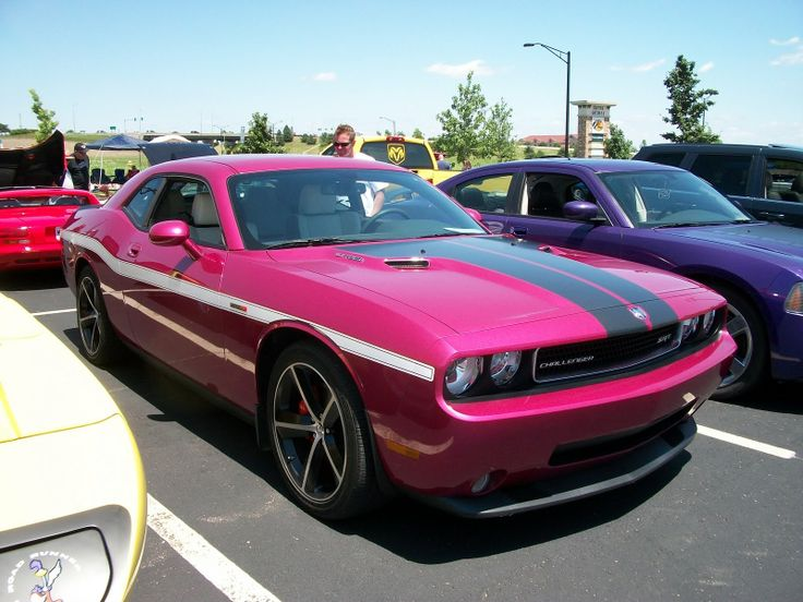 pink dodge charger