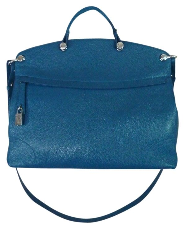 Furla Dark Anice Pebbled Leather Piper Blue Satchel. Save 20% on the Furla Dark Anice Pebbled Leather Piper Blue Satchel! This satchel is a top 10 member favorite on Tradesy. See how much you can save