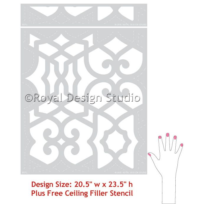 Wall Stencil | Chez Sheik Moroccan Stencil | Royal Design Studio