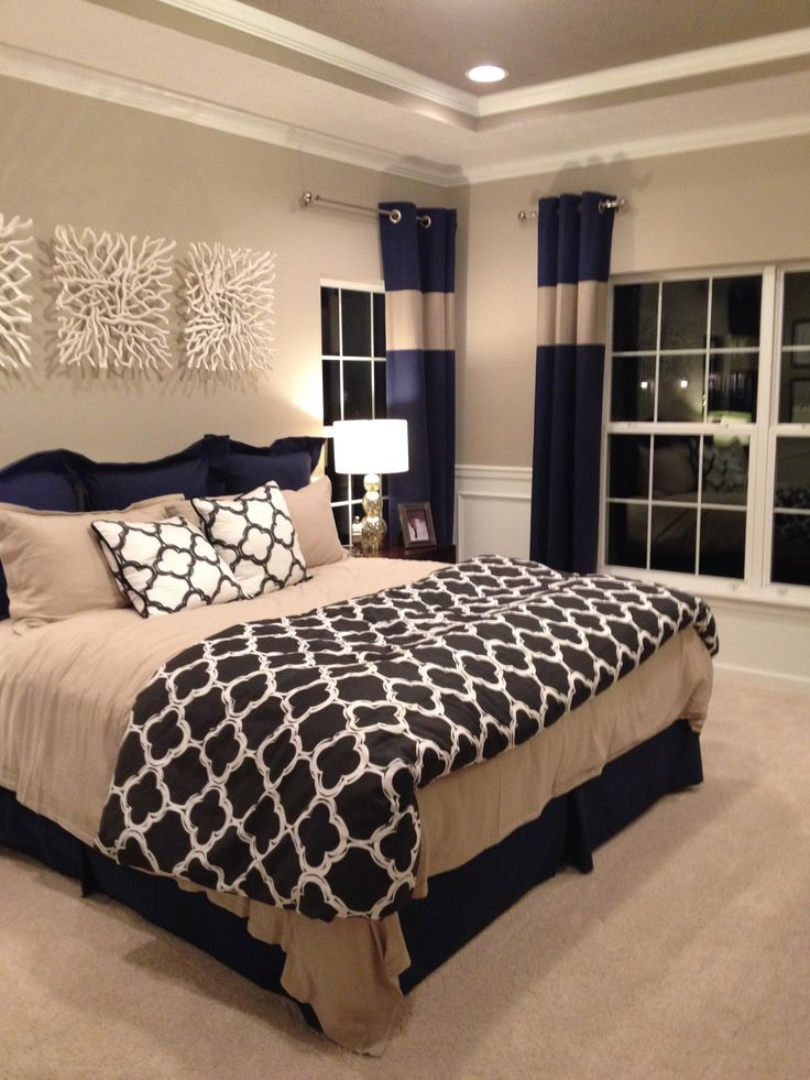 Master Bedroom Decor Ideas 25+ best navy bedrooms ideas on pinterest | navy master bedroom