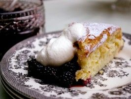 Angel Cake with Blackberries and White Currants : Recipes : Cooking Channel
