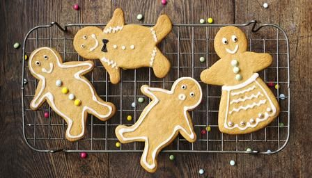 Gingerbread men - I prefer to substitute the Ginger for mixed spice with cloves, tastes a little like Speculaas  - delicious!