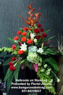 Bunga standing flower, bunga pembukaan mall alam sutera, serpong, jakarta dan sekitarnya.