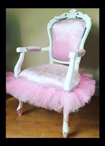French-Louis-Chair-Pink-Crushed-Velvet-Ballerina-Tutu-Princess