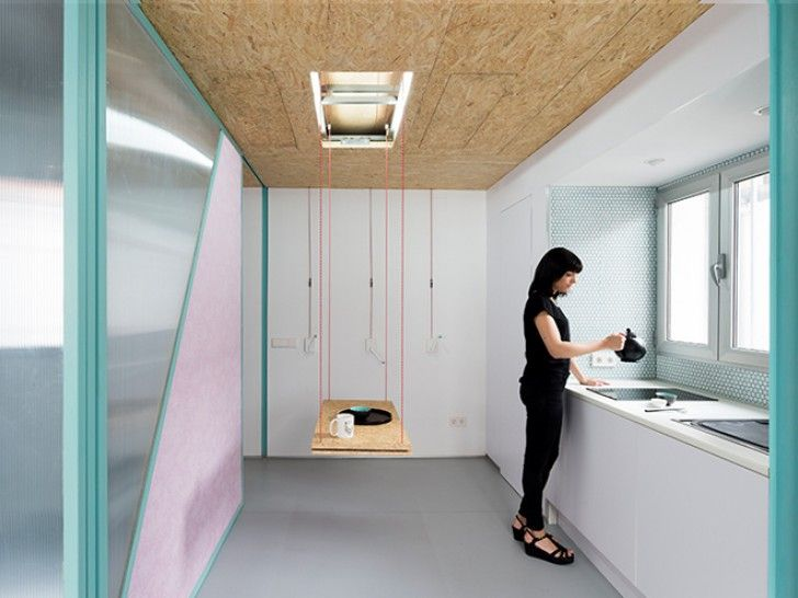 Elii Architects Equip Tiny Madrid Studio with a Host of Quirky Space Saving Features | Inhabitat - Green Design, Innovation, Architecture, Green Building