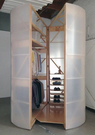 """Tuberoom - translucent hinged walk-in closet"" https://sumally.com/p/902635"