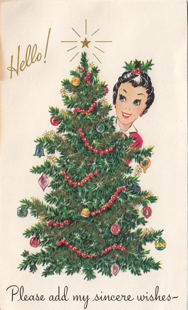 Vintage Greeting Card Christmas 1950s 141 best
