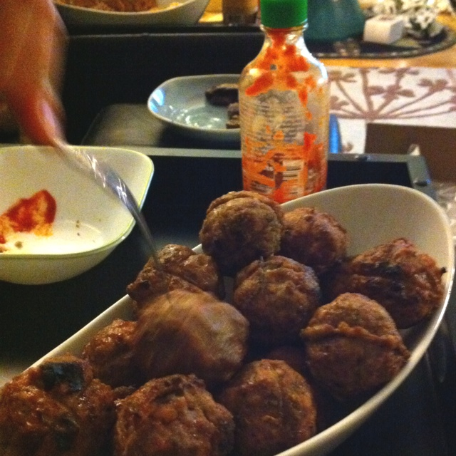 Grilled meatballs at Melanie's | Yummy Food | Pinterest