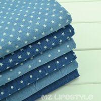 Лидер продаж! 50*150 см хлопок, джинсовая ткань по полметра печать хлопок синие джинсы ткань для DIY Швейные модной одежды делает материал