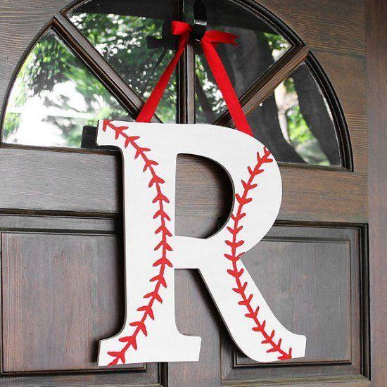 How to make a baseball or softball monogram wreath