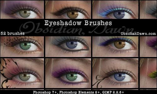 Eyeshadow Photoshop Brushes by redheadstock.deviantart.com