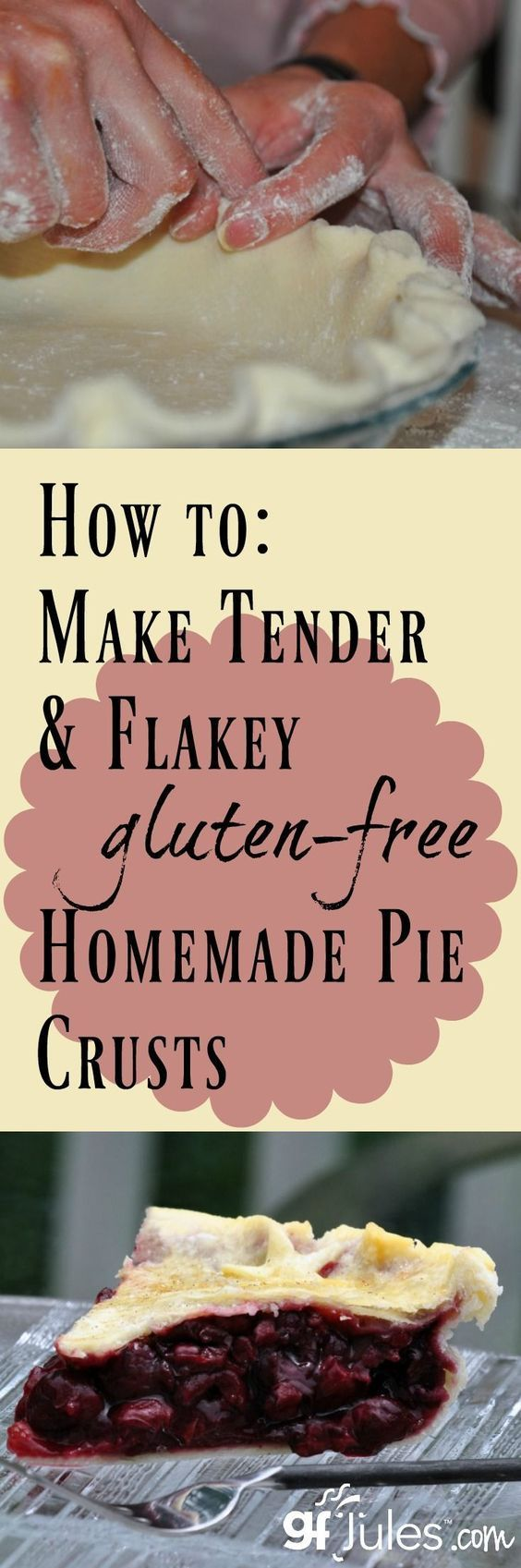Gluten free pie crust tutorial - video, recipe and step-by-step photos to get… | The holidays are coming up and you're going to need gluten free pie crusts for all of the pies you're making for Thanksgiving and Christmas.