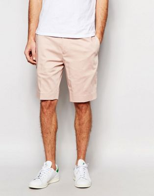 ASOS - Pantaloncini skinny rosa chiaro sartoriali di media lunghezza