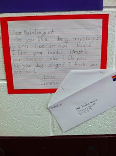 friendly letter format--writing to characters in books!