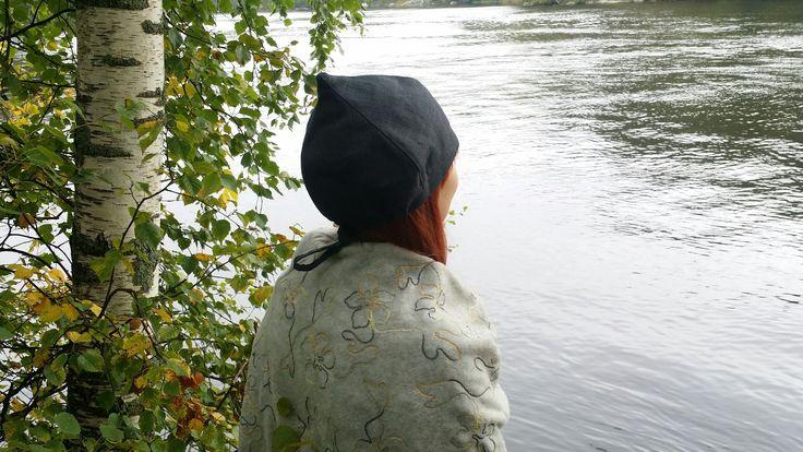 Leeni Finland saunahat, Savu-model and material 100%linen