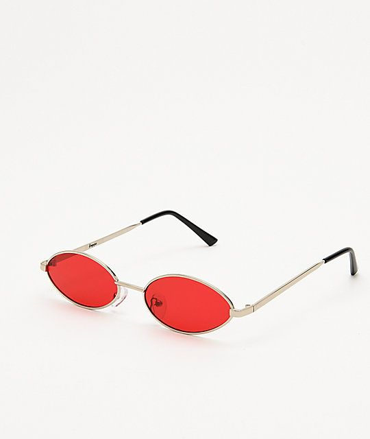 19e624d3cd4f Empyre Miller Mini Oval Red & Silver Sunglasses in 2019   Looking ...