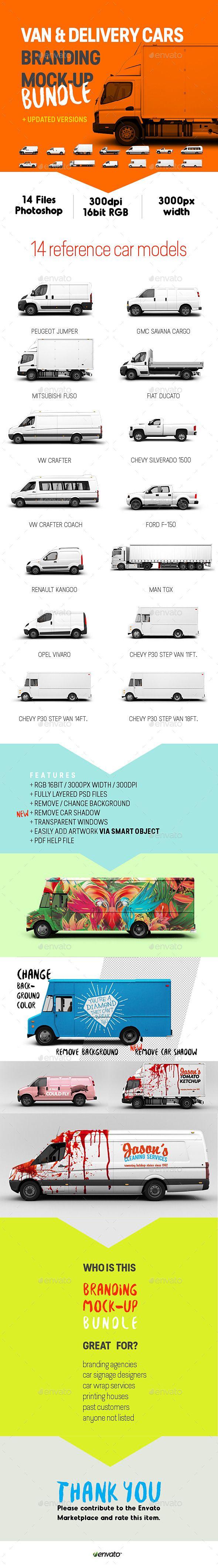 Van & Delivery Cars Branding Mockup Bundle