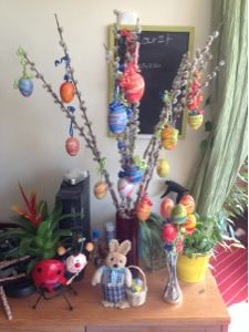 Meine kreative Welt: Osterdeko mit marmorierten Eiern