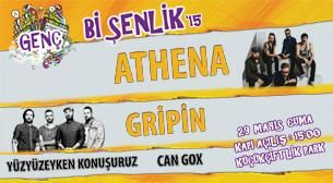 """Genç Bi Şenlik'15: Athena - Gripin - Can Gox - Yüzyüzeyken  Konuşuruz ile İstanbul'un en büyük lise şenliği """"Genç Bi Şenlik 15"""", 29 Mayıs 2015 de KüçükÇiftlik Park'ta #rock #müzik #konser #şenlik#lise"""
