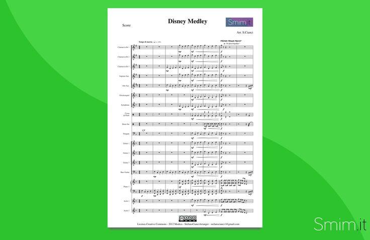 Disney Medley - Partitura gratis per orchestra di Scuola Media ad Indirizzo Musicale - Free Sheet Music