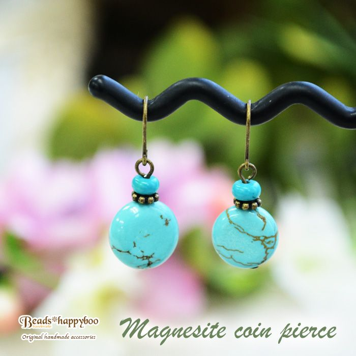 Coimpias or earrings natural stone magnesite