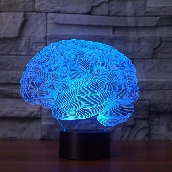Brain 3d Illusion Lamp Boffo Lights 3d Illusion Lamp Night Light Lamp 3d Led Lamp