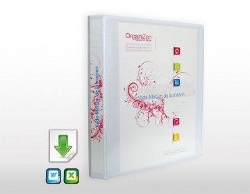 http://organizen.fr/ #Organisation #Quotidien #Flylady Constituez-vous votre propre outil d'organisation familiale : le Vade-Mecum de la maison ! Classeur de maison avec + de 30 fichiers à télécharger et à adapter à vos besoins.