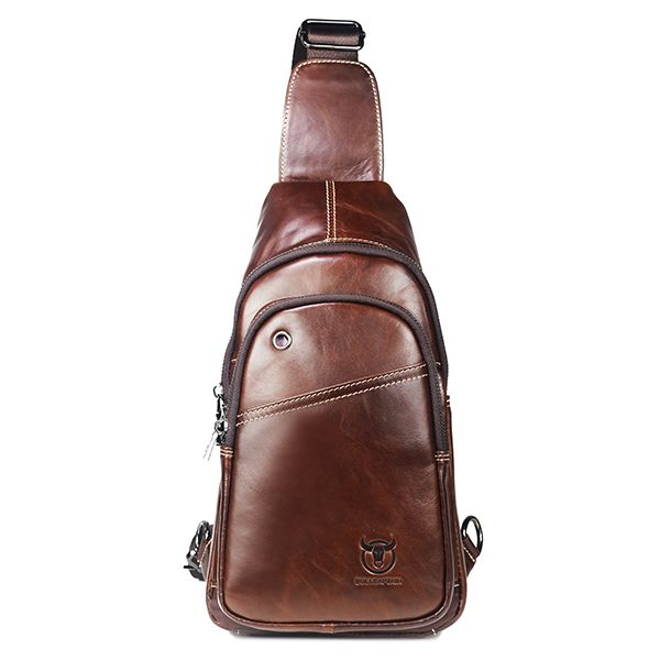 Bullcaptain® Men Buisness Casual Genuine Leather Chest Bag Crossbody Bag  Worldwide delivery. Original best quality product for 70% of it's real price. Hurry up, buying it is extra profitable, because we have good production sources. 1 day products dispatch from warehouse. Fast & ...
