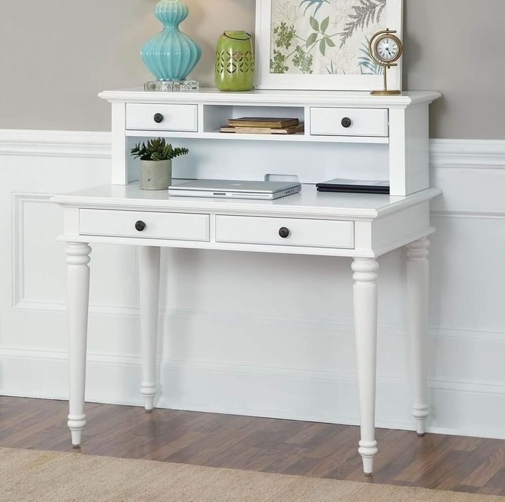 1000 ideas about white desk with hutch on pinterest desk with hutch white desks and desks. Black Bedroom Furniture Sets. Home Design Ideas