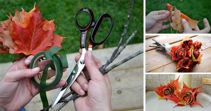 Návod ako vyrobiť ružičky a kyticu z lístia. Rozžiaria váš domov jesennou atmosférou! DIY nápady a návody na ruže z opadaných listov. Ružičky z lístia