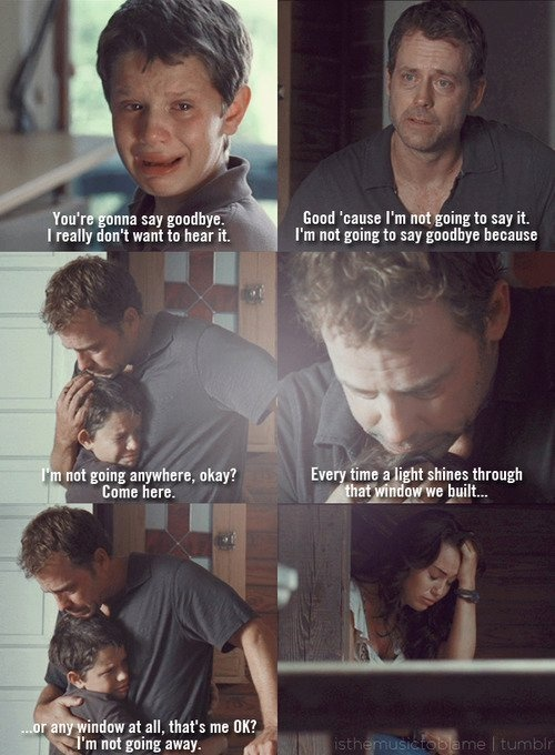 This scene shows Jonah, Ronnie's brother, breaking down to his father after finding out about his fathers' terminal illness.
