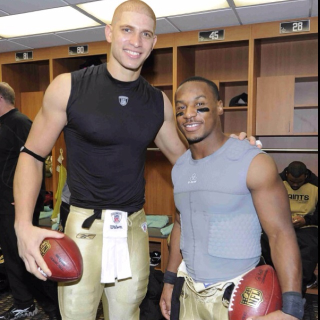 Jimmy Graham and Darren Sproles! Bucket list item take a