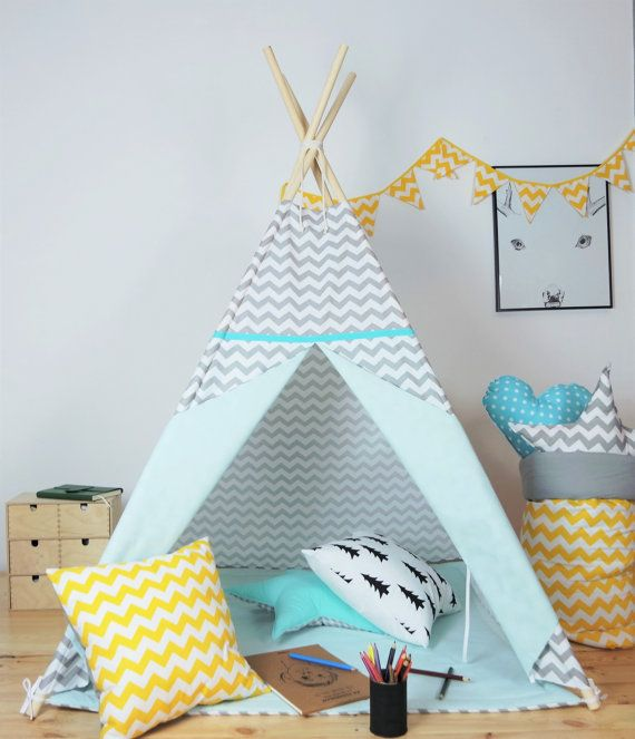 children 39 s teepee playtent tipi zelt wigwam kids teepee tent play teepee high quality. Black Bedroom Furniture Sets. Home Design Ideas