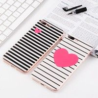 Wish | Cute TPU For iPhone X 6s 7 Plus case Samsung note 8 s8 plus cover Love Stripes Design for Huawei P9 Lite Oneplus 5 cover Ultra Thin Soft Back Cover for iphone 5s 6s samsung galaxy s6 edge s7 edge for huawei p8 p9 p10 lite honor 7 8 sony xz for Apple iPhone Samsung Sony Huawei Series Phone