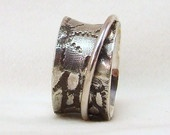 Silver Spinner ring , size 5 3/8 (16mm)