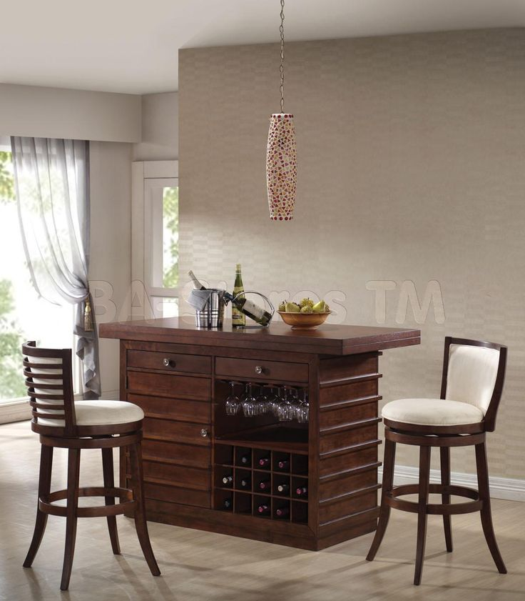 pacifica bar set in dark oak table and 2 chairs acme furniture