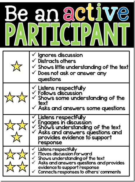 "be a ""four star participant"" - excellent tool to use during small group instruction!"