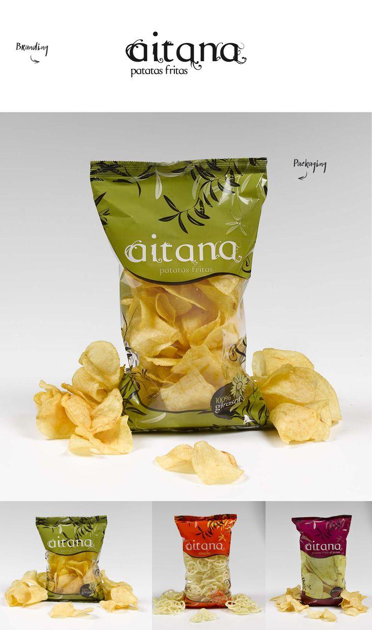 #aitana #snacks #patatas #branding #packaging #diseño #grafico #deisng #graphic #snacks