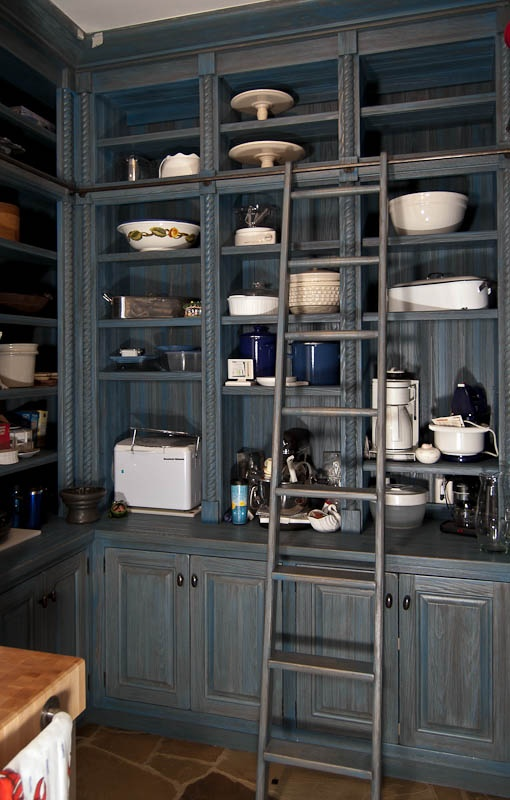 Keith Summerour: A European Traditional painted blue Pantry