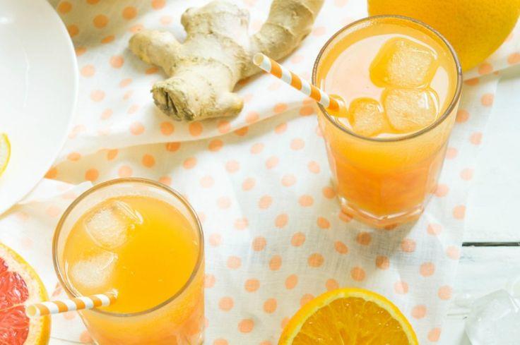 Estratto di arancia, pompelmo e zenzero