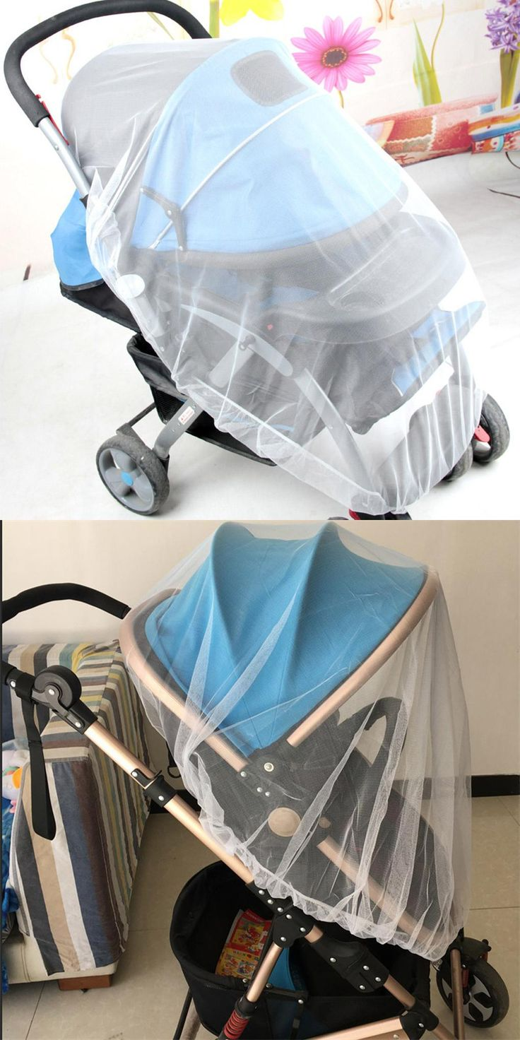 [Visit to Buy] Child seat mosquito net child net baby safety net white bee insect bug cover baby trolley mosquito net mosquito protection #Advertisement