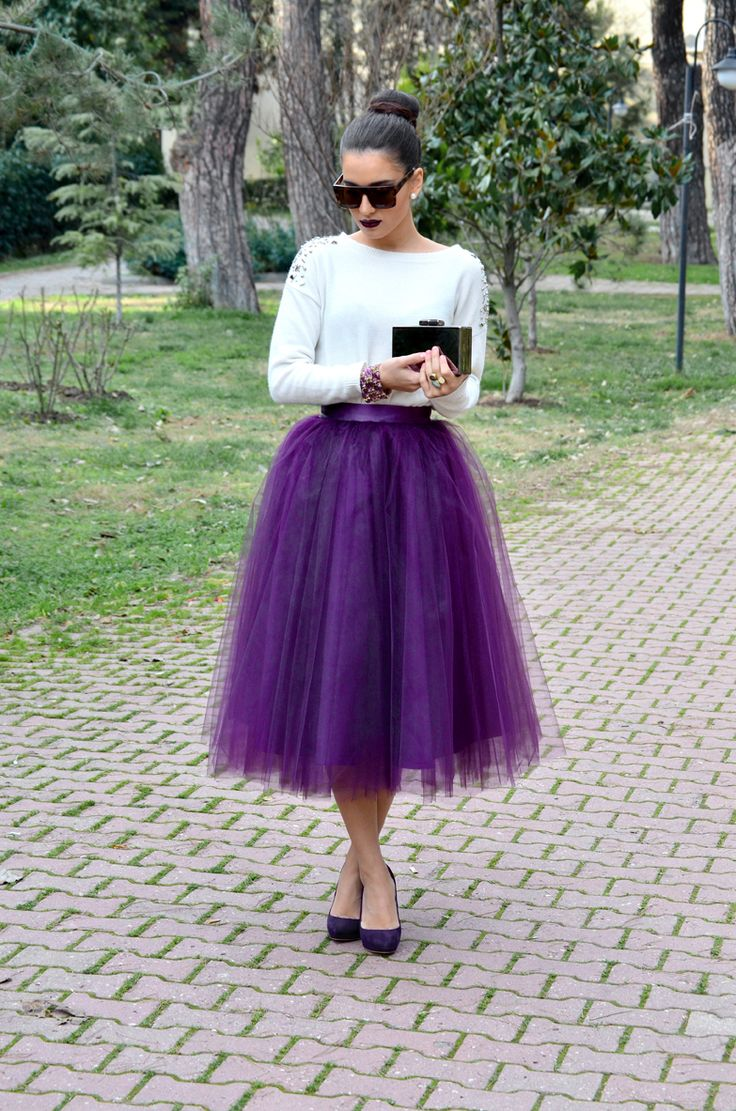 Purple Tulle Skirt, I wish I had places to go where I could wear this kind of stuff! #GirlyGirl