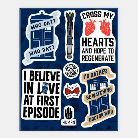 Doctor Who Fandom Stickers