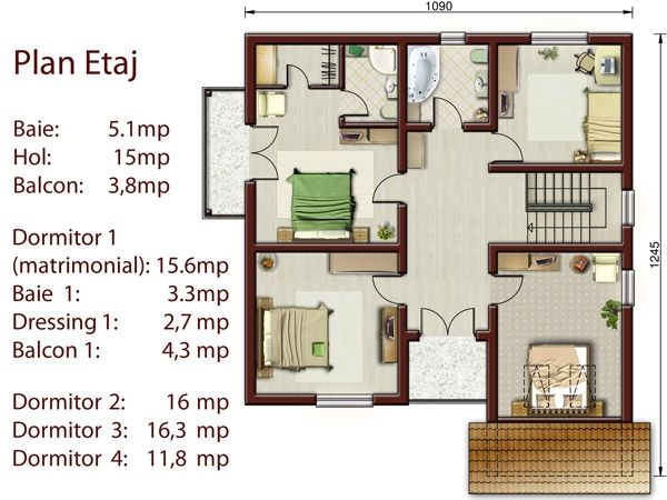 Lovely House Plan # 3 010 : House Plans Set | HOME DESIGN: Dream House | Pinterest Part 21