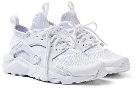 Nike White Huarache Run Ultra Junior Trainers