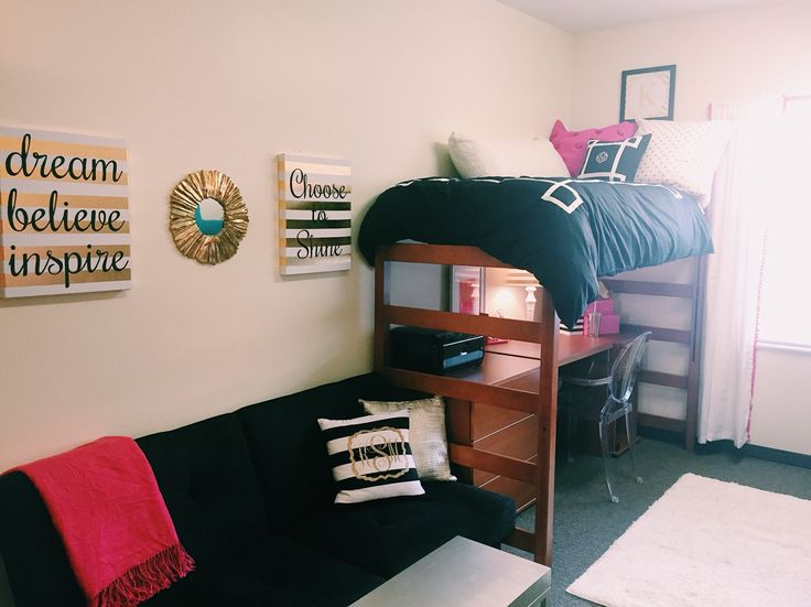 Girls dorm room at university of West Georgia