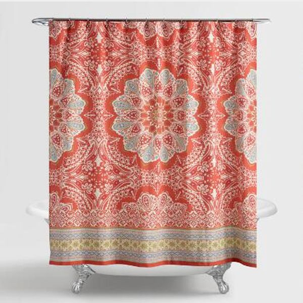 Jessica Simpson Amrita Medallion Shower Curtain Medallion Shower