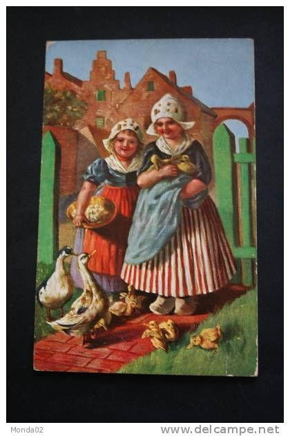 Enfants  hollandais - lot de 4 cartes